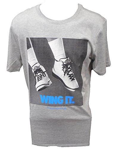 MEN'S AIR JORDAN RETRO 2 WING IT TEE-XX-LARGE/GREY (Air Jordan Shirt Wings)