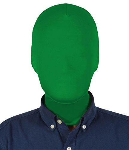 Sheface Spandex Costume Full Cover Hood Masks for Adults and Kids (Adults, Green)