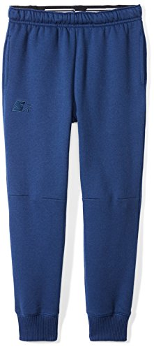 Starter Boys' Jogger Sweatpants with Pockets, Amazon Exclusive, Team Navy with Embroidered Logo, M (8/10)