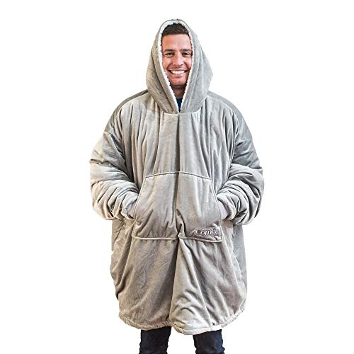 THE COMFY: Original Blanket Sweatshirt, Seen on Shark Tank, Invented by 2 Brothers, Warm, Soft, Cozy, Wearable Sherpa Hoodie, Multiple Colors, One Size Fits All, Adults, Men, Women, Teens, Friends ()