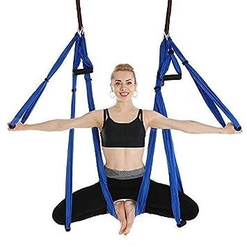 Amazon.com: Yoga Hammock, 6 Hand Aerial Yoga Hammock, Yoga ...