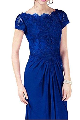 Blau Damen Langes Abendkleider Royal Brautmutterkleider Braut Chiffon Promkleider Etuikleider Marie La waZqvgWUS