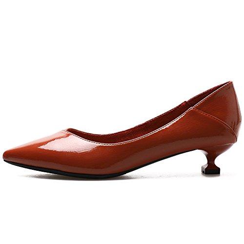 YMFIE La Sra. Señaló Zapatos de Trabajo de Zapatos de tacón Alto Sexy Moda Stiletto Moda F