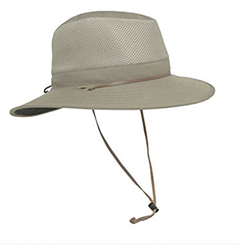 Solar Escape Outback Mens UV Protection Hat- Khaki One Size