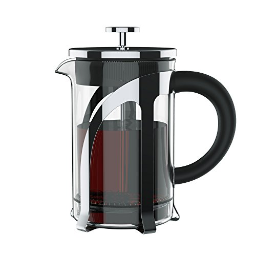 Vomach French Press Coffee Makers, Heat Resistant Borosilicate Glass 800ml (Tea makers) with 304 Grade Stainless Steel and 4 Level Filtration for Work, Business, Travel and More