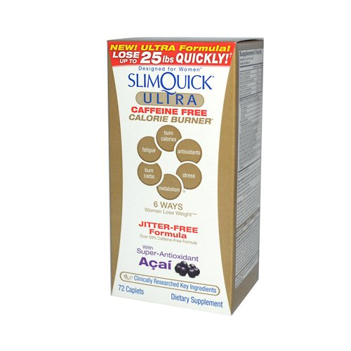 Slimquick caféine Force clinique gratuit, 72-comte Box
