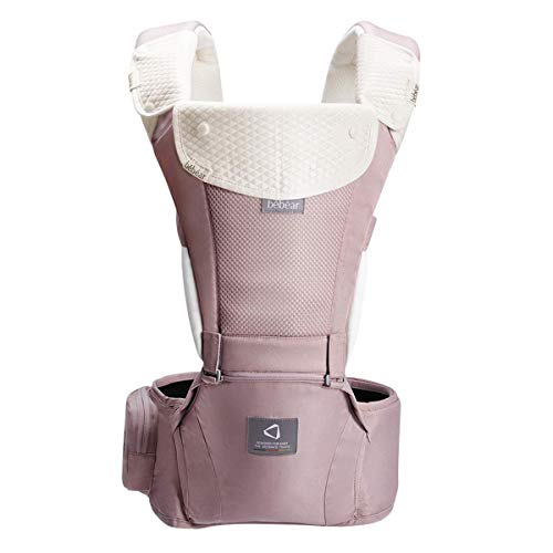 Bebamour New Style All-in-One Ergonomic Baby Carrier, All Carry Positions, Newborn to Toddler,Approved by U.S. Safety Standards (Pink)