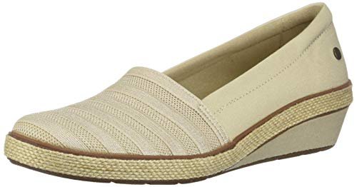 Grasshoppers Women's Blaise Wedge Stripe Gore Sneaker, Stone, 8