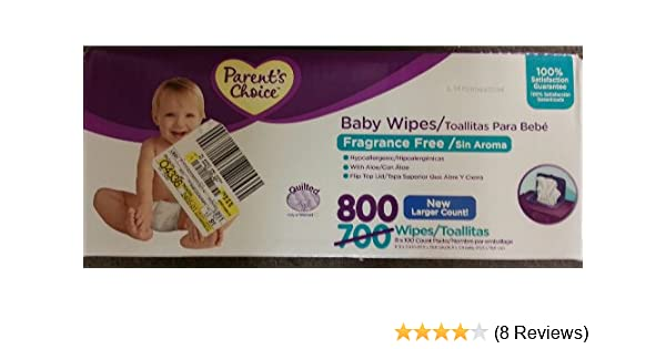 Amazon.com : Parents Choice Fragrance Free Quilted Baby Wipes, 800 sheets : Baby