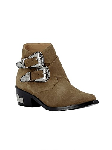 Toga Pulla Women's AJ780KKH Brown Suede Ankle Boots 2anbIhq