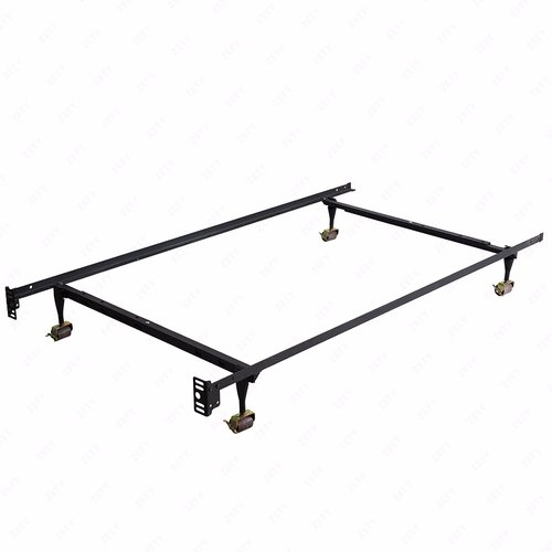 Mecor Heavy Duty Adjustable Metal Bed Frame Platform,with Rug Rollers & Locking Wheels,Fits Twin,Full,Queen Size