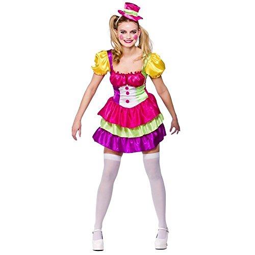 Adult Ladies Cute Clown Costume Women Fancy (Cute Female Clown Costumes)