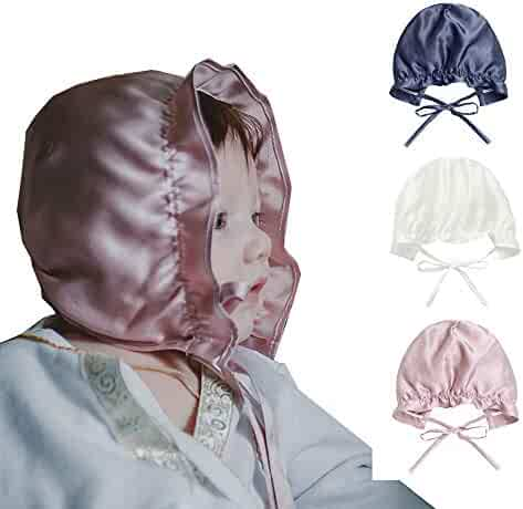 845489a96f492 Mommesilk Baby Infant Sleeping Cap for Hair Toddler Breathable Sun  Protection Hat Bonnet