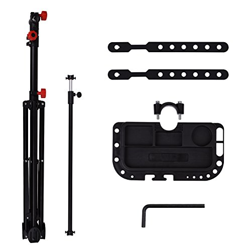 Hromee Portable Pro Mechanic Bike Repair Stand,Adjustable Height Bicycle Maintenance Rack Workstand With Tool Tray by Hromee (Image #4)
