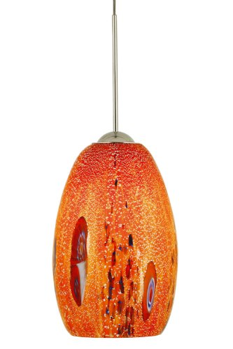 Mouth Blown Glass Pendant Light in US - 5
