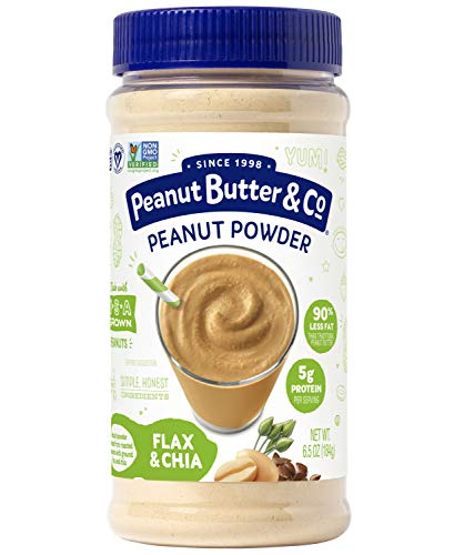 Peanut Butter & Co. Flax & Chia Peanut Powder, Non-GMO Project Verified, Gluten Free, Vegan, 6.5 Ounce Jar (Peanut Butter With Flax And Chia Seeds)