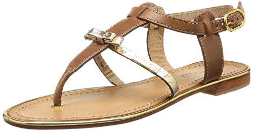 Les Tropéziennes par M. Belarbi Bantou - Sandalias de Vestir de cuero mujer marrón - Marron (Tan)