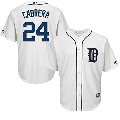 VF Detroit Tigers MLB Majestic Mens Cool Base Miguel Cabrera White Jersey Big & Tall Sizes (3XL)