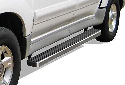 APS iBoard Running Boards (Nerf Bars | Side Steps | Step Bars) for 2001-2006 Ford Explorer Sport Trac Crew Cab Pickup 4-Door | (Silver 4 inches)