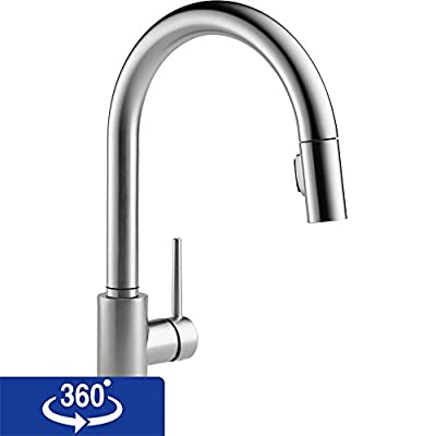 Delta Faucet Trinsic Single Handle Pull-Down Kitchen Faucet with Magnetic Docking from Delta Faucet