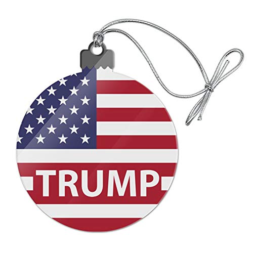 GRAPHICS & MORE President Trump American Flag Acrylic Christmas Tree Holiday Ornament