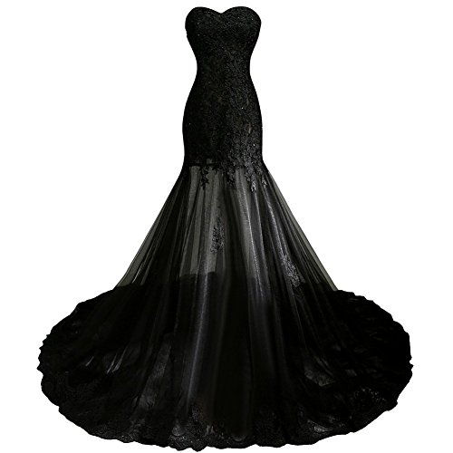 Buy long black lace dress next - 3