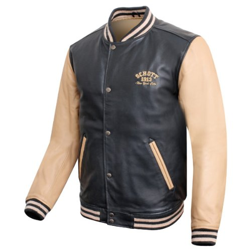 Schott Leather College jacket XXL: Amazon.co.uk: Sports & Outdoors