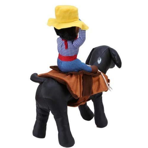 FidgetGear Fancy Pet Small Large Dog Halloween Costumes Riding Cowboy Knight Coat Clothes L XL]()