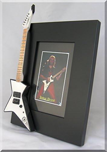 Glenn Tipton guitarra en miniatura marco de fotos Hamer Judas ...