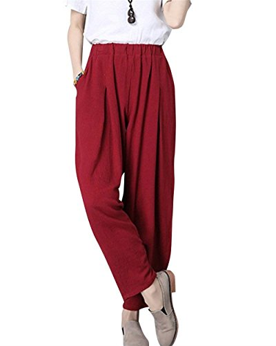 Loisir Femme Bolawoo Élastique Casual Large Unicolore Confortable Mode Harem Taille D'été Marque Élégant Haute Pluderhose Pantalon dEEwO6qrF