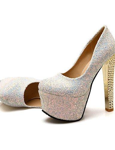 bomba talones mujeres us10 us9 plataforma 5 eu4 invierno 5 punta us10 black silver 5 zapatos de primavera eu42 brillo de uk8 del materiales personalizados 5 8 5 los heelsparty cn42 ZQ uk7 cn43 silver las 10 eu41 x64qw74I