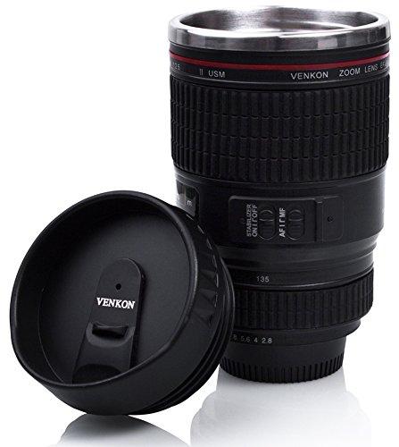"""105 opinioni per Bicchiere da caffè con coperchio Drink & Go- Design """"Fotocamera digitale"""" nero"""
