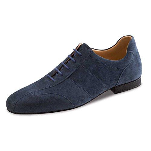 Werner Kern–Hombre Zapatos de baile 28045–ante Azul–Super Flex Comfort