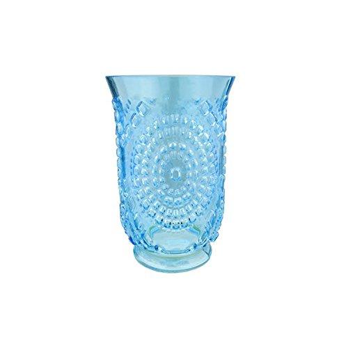 A and B Home Charlotte 5-inch x 8-inch Blue Hurricane Vase