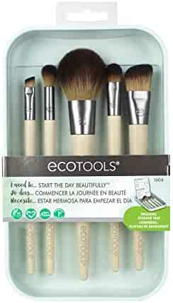 EcoTools Start the Day Beautifully Kit Makeup Brush Set for Foundation Eyeshadow Blush
