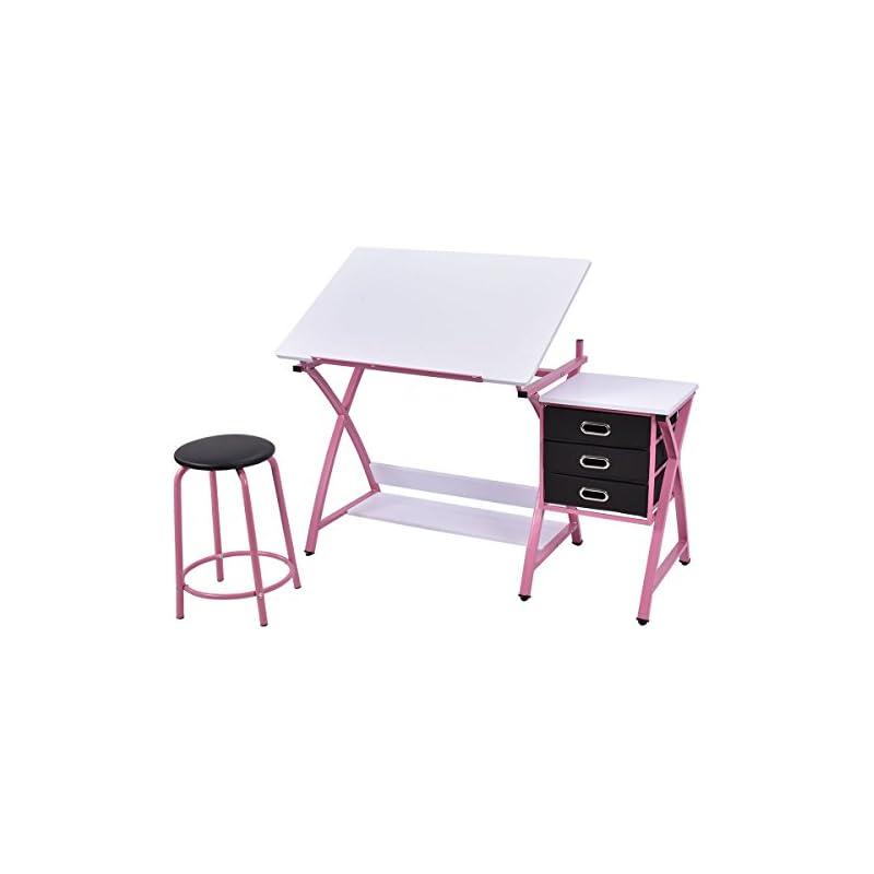 TANGKULA Drafting Table Art & Craft Draw