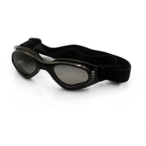 SUPEREX® UV Goggles Sonnenbrille Hundebrille Sonnenschutz Brille für Hunde Katze Haustier - Schwarz