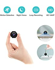 Mini Cémera Espion KEAN Full HD 1080P Portable Micro Camera de Surveillance Nanny Cachée Spy Cam avec Vision Nocturne et Détection de Mouvement de Sécurité Intérieure / Extérieure