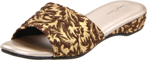 Daniel Green Womens Dormie Damask Slipper Gold lTkgY
