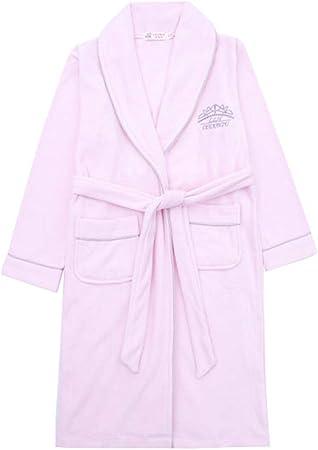 Camisones Bata de Noche Toalla de baño para niños Toalla de algodón niña Albornoz Albornoz de niño Grande Princesa otoño e Invierno (Color : Pink, Size : 110cm): Amazon.es: Hogar