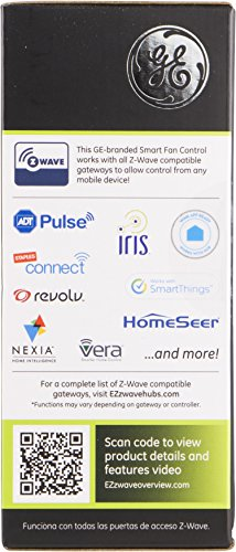 GE Z-Wave Wireless Smart Fan Speed Control, 3-Speed, In-Wall, Includes White & Light Almond Paddles, Hub Required, 12730, Works with Alexa by GE (Image #5)