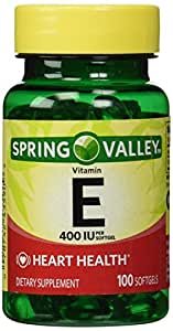 Spring Valley - Vitamin E 400 IU, 100 Softgels