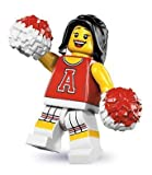 LEGO 8833 Series 8 Minifig Minifigure Red Cheerleader with Pom Poms by Lgp