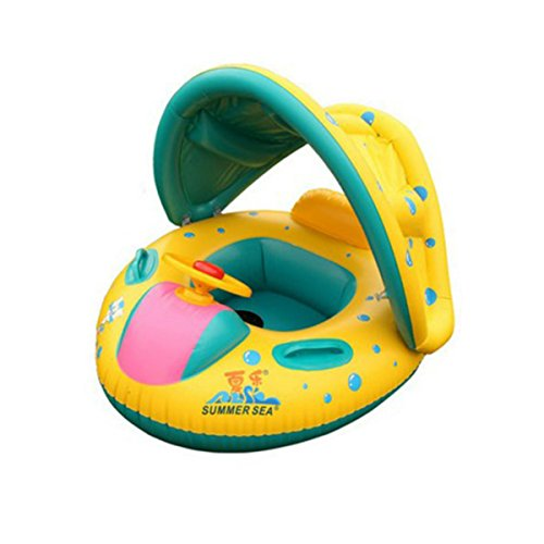 TOYMYTOY Baby Swimming Float Boat Baby Kids Swimming Seat In