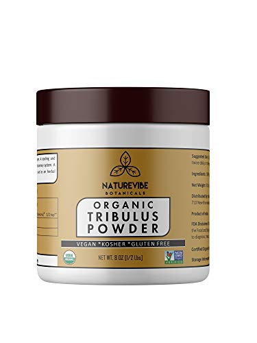 Naturevibe Botanicals USDA Organic Gokshura Powder (8 Ounces) - Tribulus Terrestris - 100% Pure & Natural