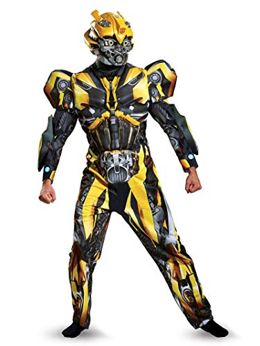 Disguise Men's Plus Size Bumblebee Movie Deluxe Adult Costume, Yellow, XX-Large