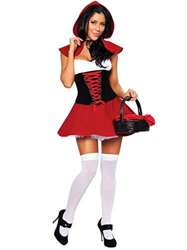 Little Costume Riding Hood Hot Red (Red Hot Riding Hood Adult Costume -)