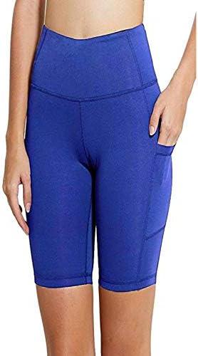 Yoga Short Tummy Control Workout Running Athletic Non See-Through Yoga Shorts with Pocket MILIMIEYIK Yoga Pants Shorts