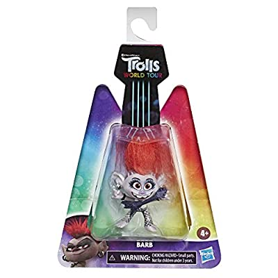 DREAMWORKS TROLLS World Tour Barb, Collectible Doll with Guitar Accessory, Toy Figure Inspired by The Movie Trolls World Tour: Toys & Games