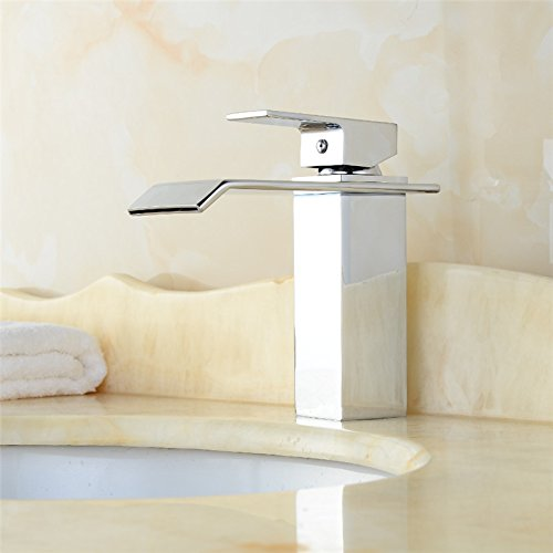 AQiMM Waschbecken Wasserhahn Bad Armatur Moderne All-Copper Warmes Und Kaltes Wasser  Waschtischarmatur Badezimmer Waschbeckenamatur